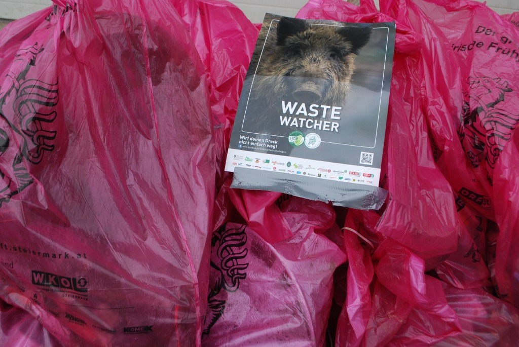 Gesammelter Abfall beim Frühjahrsputz 2017