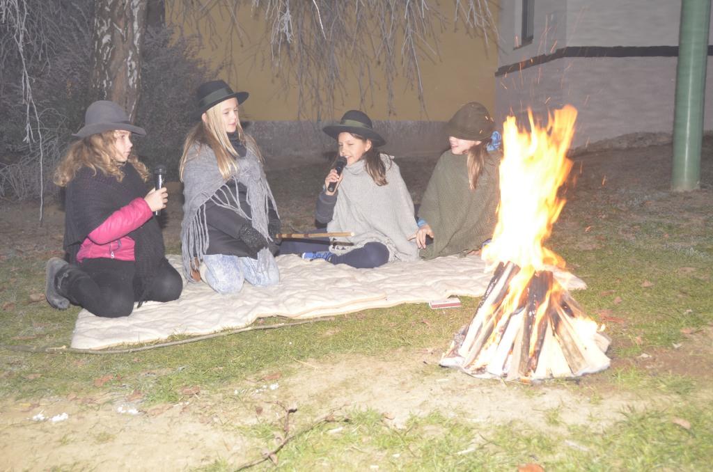 Die Hirten am Lagerfeuer