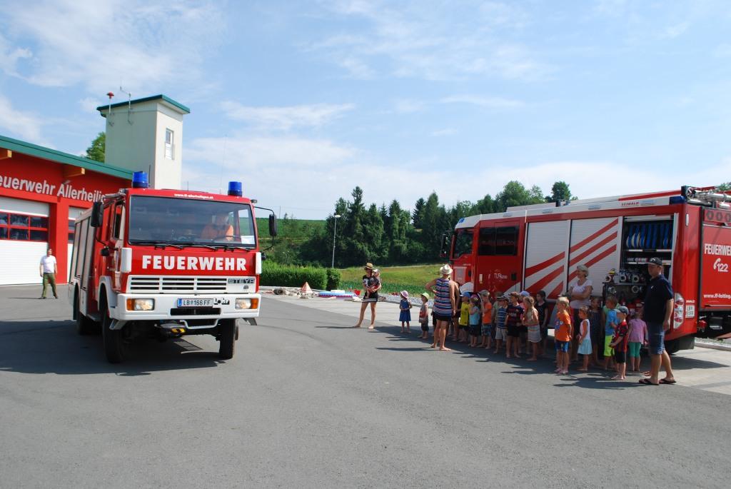 Das TLF (Tanklöschfahrzeug) Feiting mit HBI Peter Rössler