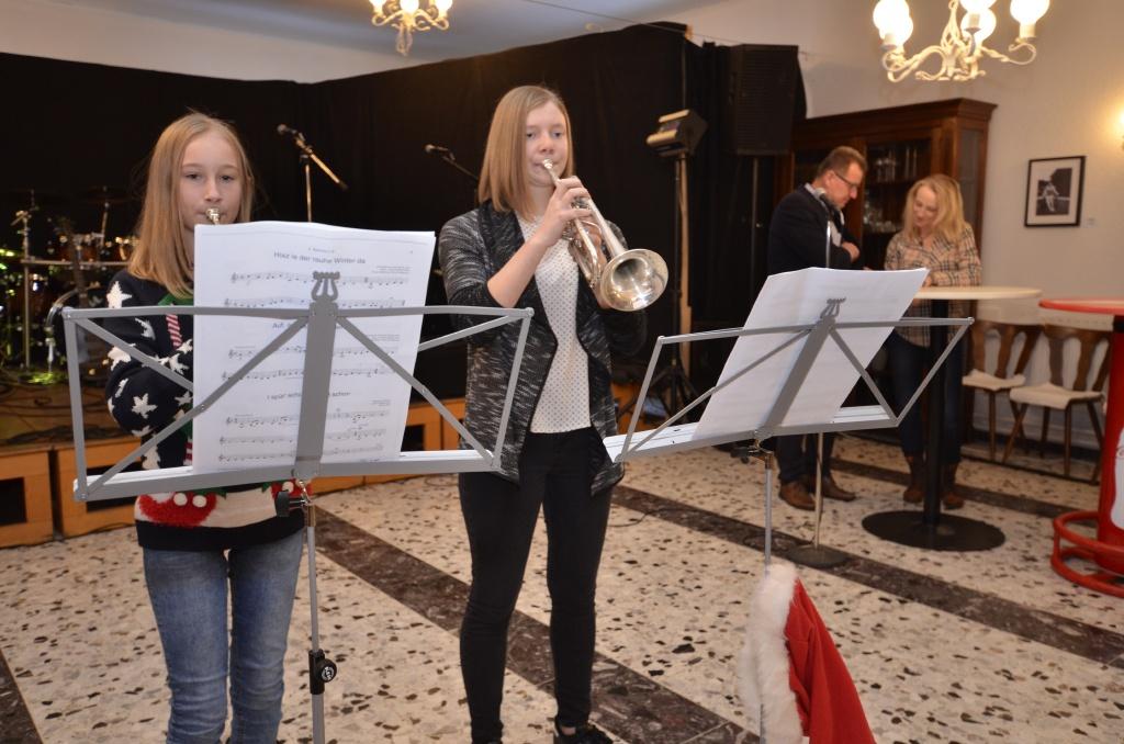 Jungmusiker-Trompetenduo vom Musikverein