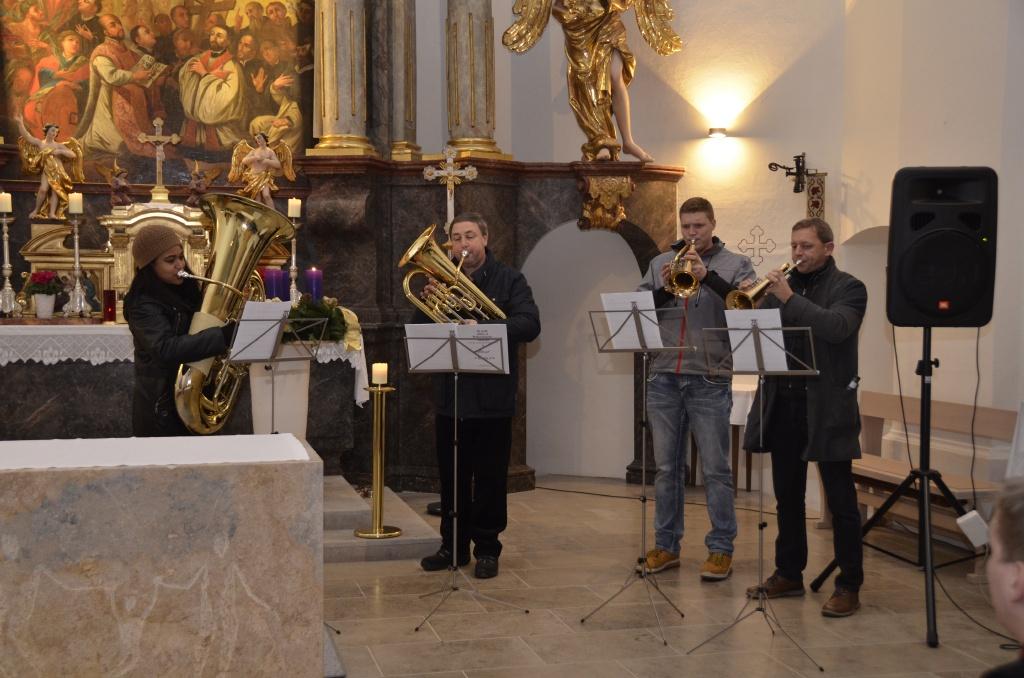 Adventlieder vom Bläserquartett des Musikvereines Allerheiligen