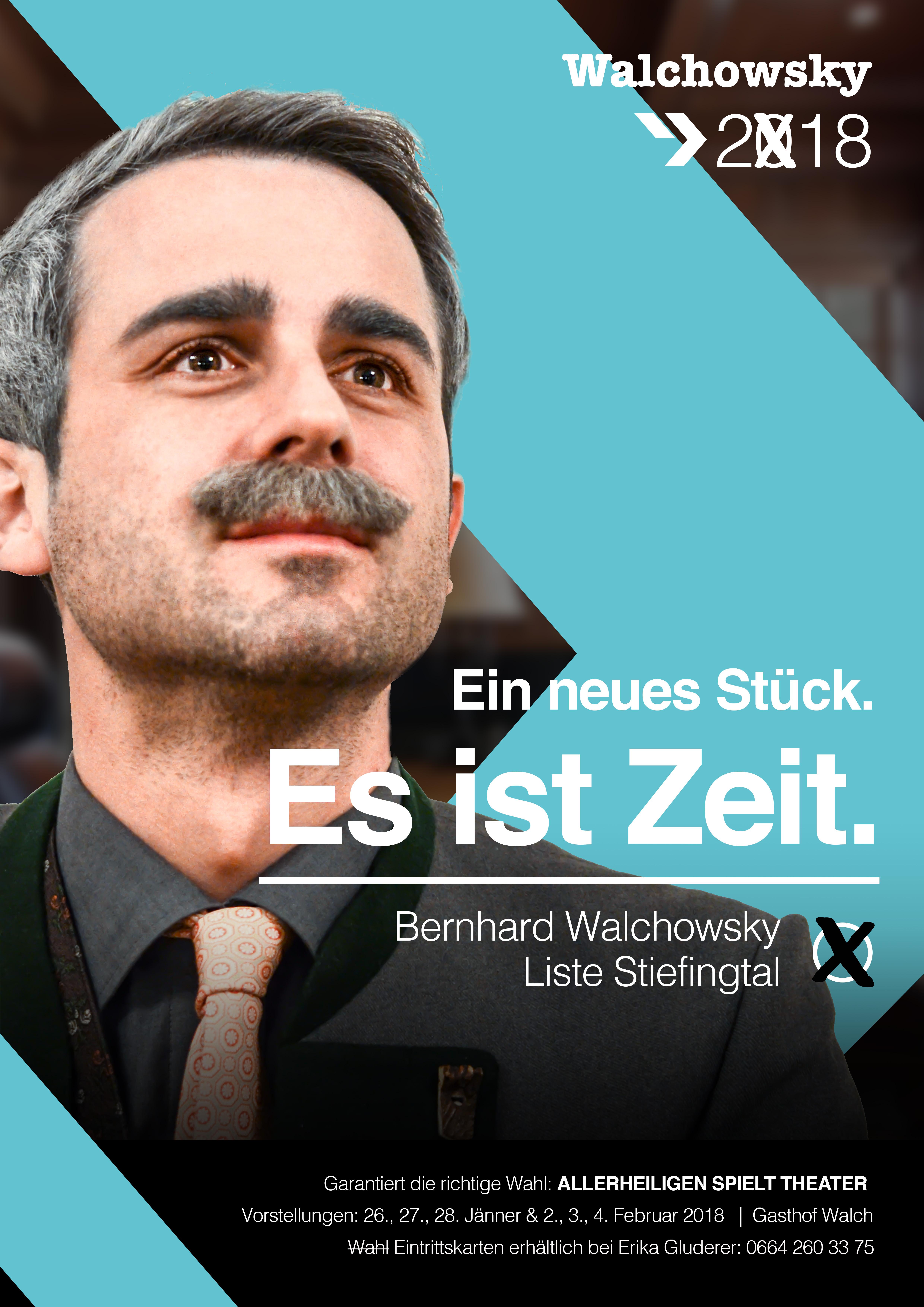 Wahlplakat von Regierungsrat Walchovsky (Anton Handl)