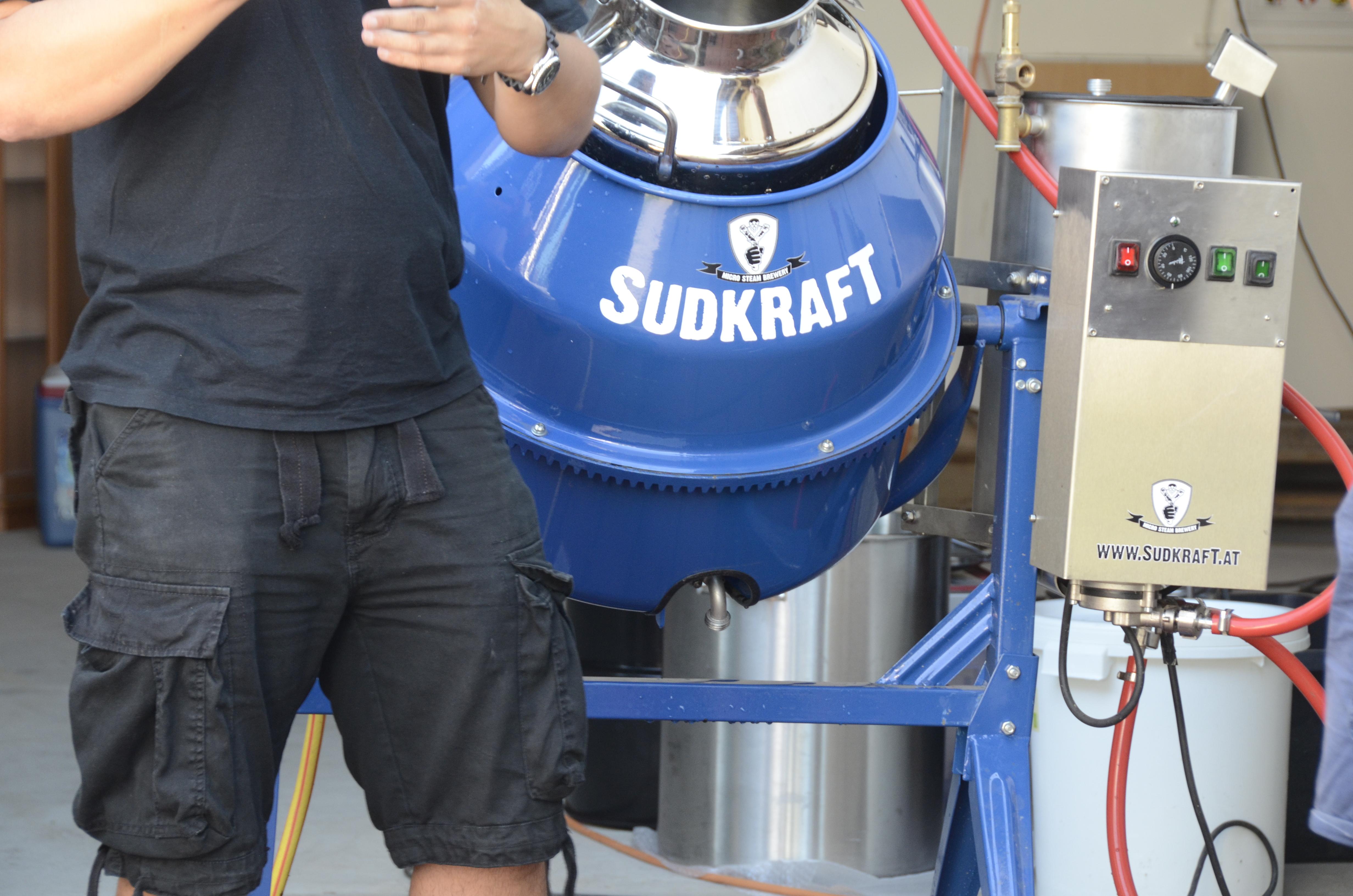 Die erste 50 l Mikro Dampfbrauerei der Firma Sudkraft