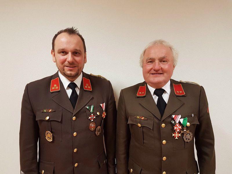 Kommando FF Allerheiligen: HBI Markus Hammer und OBI Franz Rieger