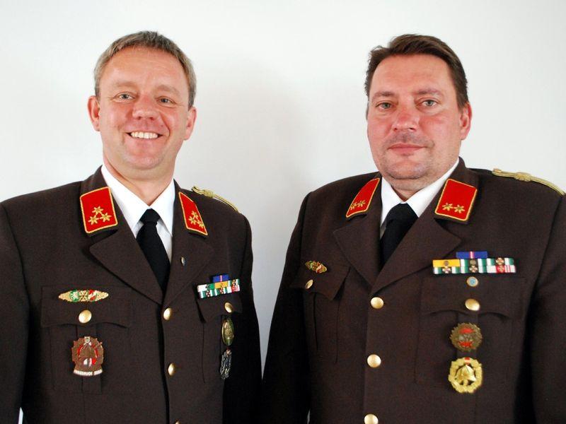 Kommando FF Feiting: HBI Peter Rössler und OBI DI Josef Stradner